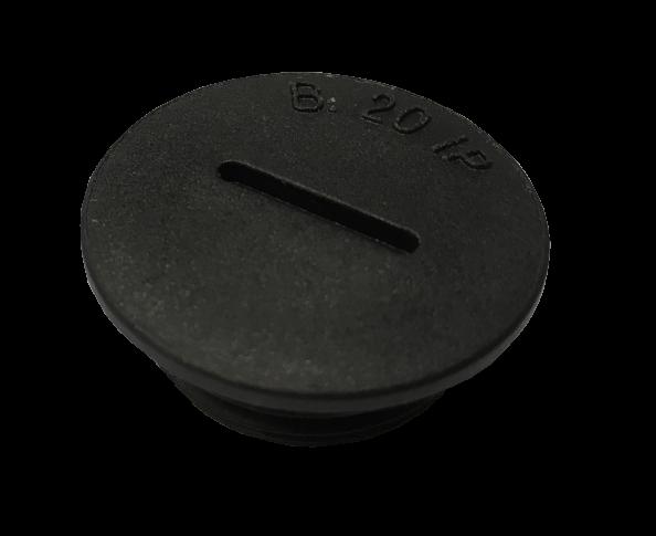 Artikelbild 1 des Artikels BLPO Blindstopfen M16 PA6 V2 Rund RAL9005+OR IP68