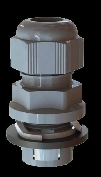 Artikelbild 1 des Artikels Kabelverschraubung Frontfix M16 PA6 RAL7001