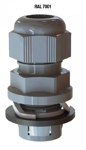 Artikelbild 1 des Artikels Kabelverschraubung Frontfix M32 PA6 RAL7001