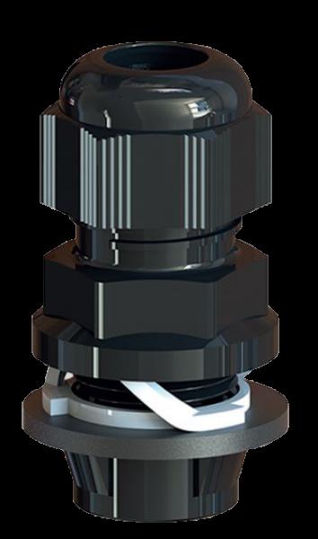 Artikelbild 1 des Artikels Kabelverschraubung Frontfix M16 PA6 RAL9005