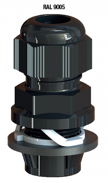 Artikelbild 1 des Artikels Kabelverschraubung Frontfix M20 PA6 RAL9005